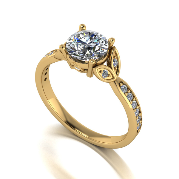 Moissanite 9ct Gold 1.25ct eq 18 Stone Birthday Anniversary Ring Yellow Gold