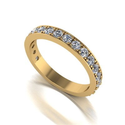 Moissanite 9ct Gold 1ct eq 18 Stone Birthday Eternity Ring
