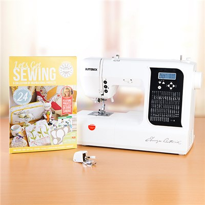 Butterick EB6100 Computerised Sewing Machine with Free Let's Get Sewing Project Book Issue 2 and Walking Foot