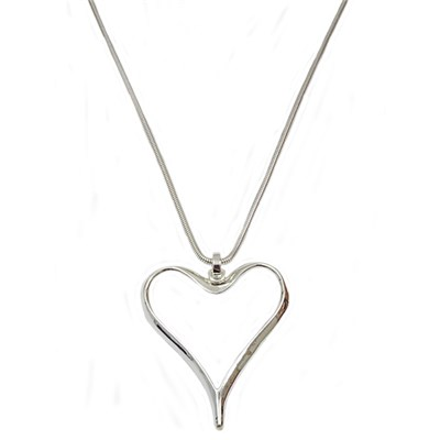 Silver Effect Heart Necklace