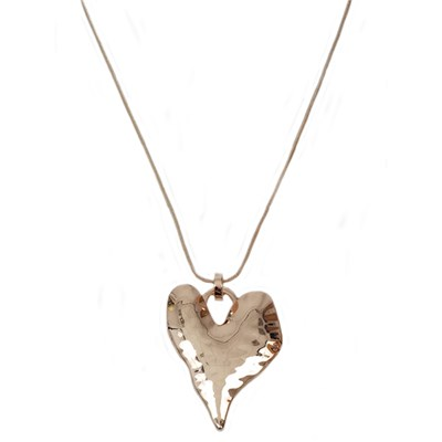 Gold Effect Heart Necklace