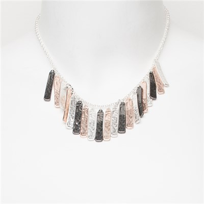 Hammered Multi Detail Necklace