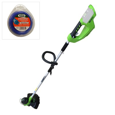 Greenworks 40v Cordless Line Trimmer (TOOL ONLY) and 1.6mm 15m Nylon Line