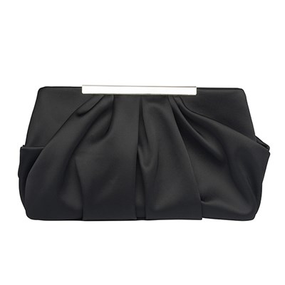 Ruched Detail Clutch Bag