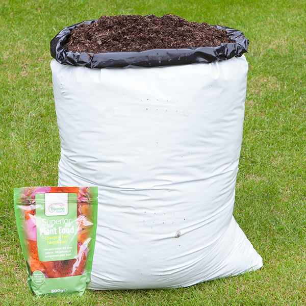 Compost 80L and Blooming Fast Superior Soluble Feed 500g No Colour