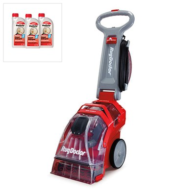 Rug Doctor Upright Carpet Cleaner with 3x 1 Litre Carpet Detergent