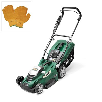 Webb WEER40 Electric Rotary Mower and Gloves
