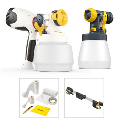 Wagner W400 with 1300ml Attachment, Wood & Metal Attachment, Handle Extension & Premium Masking Kit