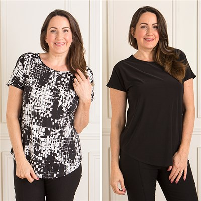 Nicole 2 Pack Soft Touch Tee Top