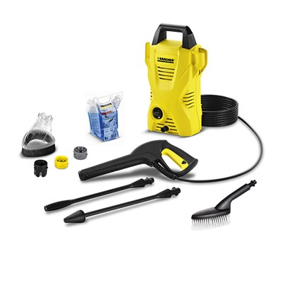 Karcher K2 Compact With Wash Brush, Splash Guard & 500ml Car Shampoo
