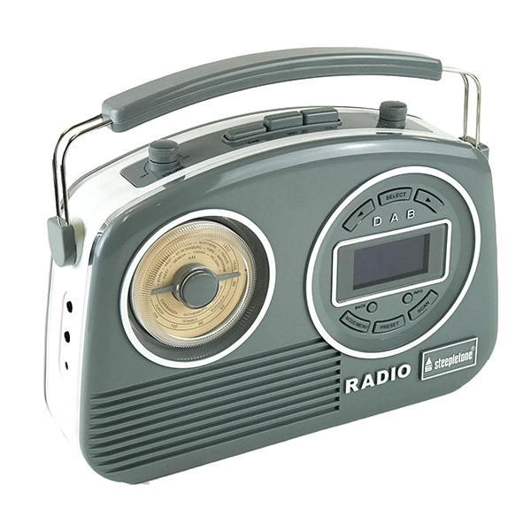 Devon DAB Radio with FM/AM and LCD Display Grey 1