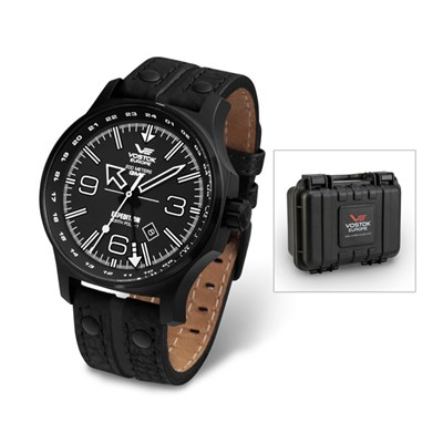 Vostok Europe Gent's Dual Time Expedition N1 Watch with Interchangeable Straps and Dry Box