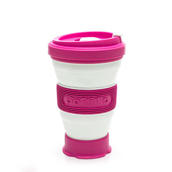 Pokito The Pocket Sized Reusable Cup Rasberry Pink