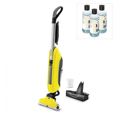 Karcher FC5 Hardfloor Cleaner with Stand and 3x Multipurpose Detergent