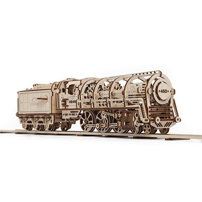 UGears Mechanical Design Steam Locomotive with Tender