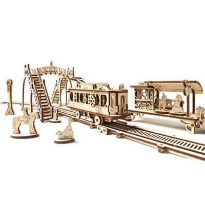 UGears Mechanical Design Tram Line