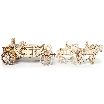 UGears Mechanical Design Wedding Carriage