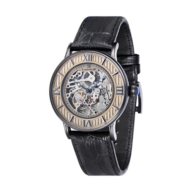 Thomas Earnshaw Gent's Darwin Automatic Watch with Genuine Leather Strap