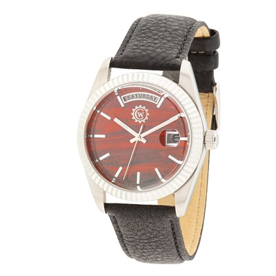 Constantin Weisz Gent's Limited Edition Real Gemstone Dial Watch with Genuine Leather Strap