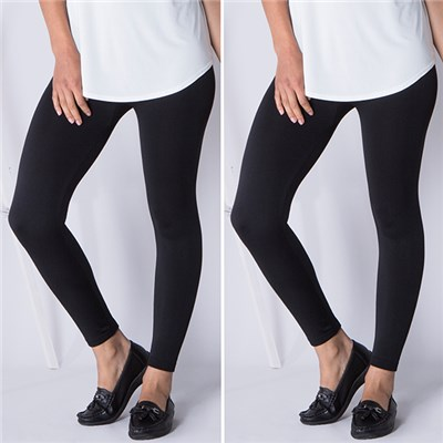 Emelia Fleece Lined Leggings (2 Pack)