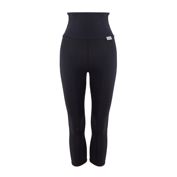 Proskins Intelligent Slim Range Plus High Waisted 3/4 Length Leggings Black