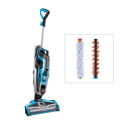 Bissell Crosswave 3 in 1 Hardfloor Cleaner with 2x Additional Roller Brushes