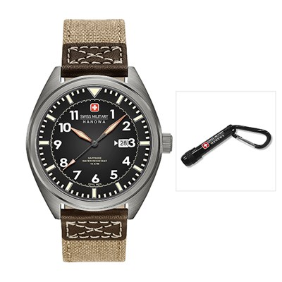 Swiss Military by Hanowa Gents Squadron II Watch with Fabric Strap - Free Torch