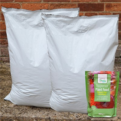 40L Professional Compost (Twin Pack) & 500g Blooming Fast Superior Soluble Fertiliser