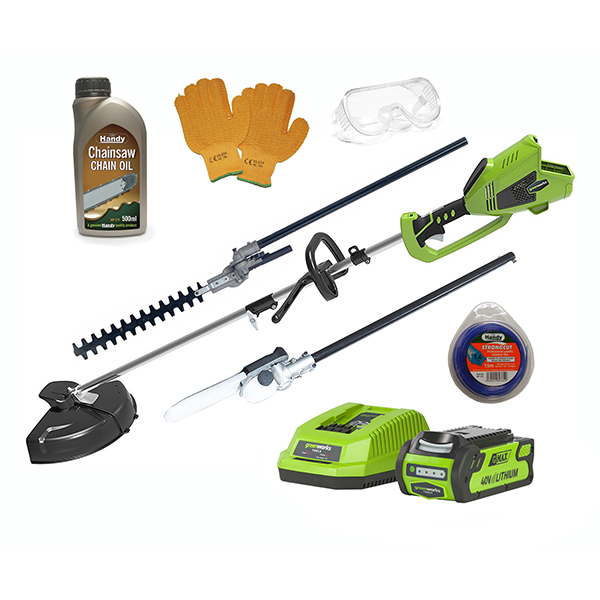 Greenworks 40v DigiPro Cordless Multi Tool Bundle with 4ah Lith-ion Battery & Charger