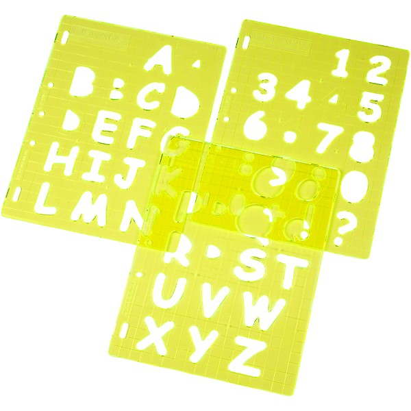 Fiskars Uppercase Letters And Numbers Shape Template No Colour
