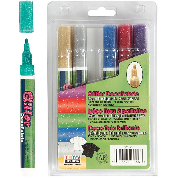 Deco Textile Markers 3mm Glitter No Colour