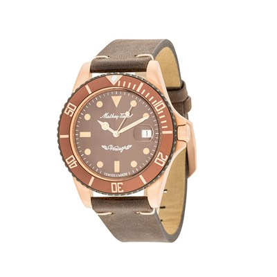 Mathey-Tissot Gent's Rolly Automatic Watch with Bronze PVD Plated Case, Interchangeable Strap and Accessories