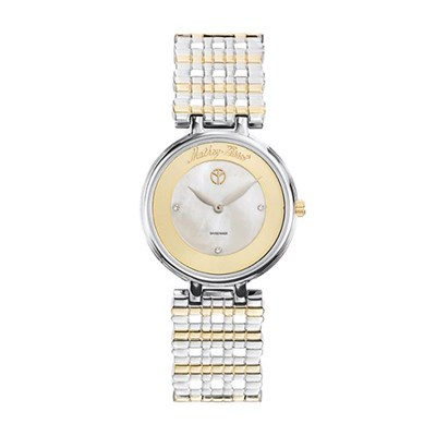 Mathey-Tissot Ladies' Aloma Watch with Two Tone Mesh Bracelet