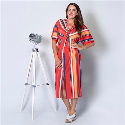 Styled By Stripe Twist Front Maxi Dress