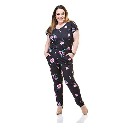 Just Be You Print Jumpsuit