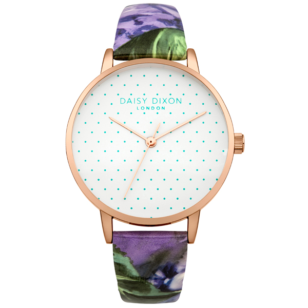Daisy Dixon Ladies' Suki Watch with Patterned Strap Purple