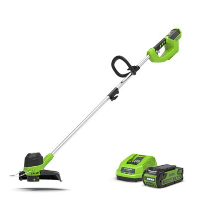 Greenworks 40V Cordless 30cm Line Trimmer inc 2.0ah Lith-Ion Battery & Charger