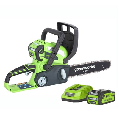 Greenworks 40v Cordless Chainsaw 30cm inc 2.0ah Lith Ion Battery & Charger