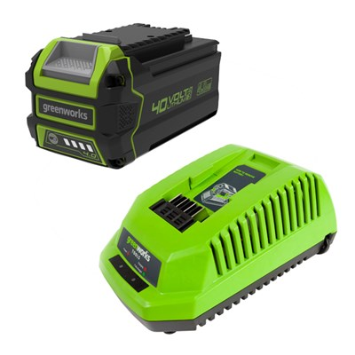 Greenworks 40V GMAX 4Ah Lithium-ion Battery & Fast Charger