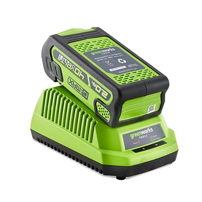 Greenworks 40V GMAX 2Ah Lithium-ion Battery & Fast Charger