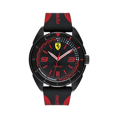 Scuderia Ferrari Gents Forza Watch with Silicone Strap