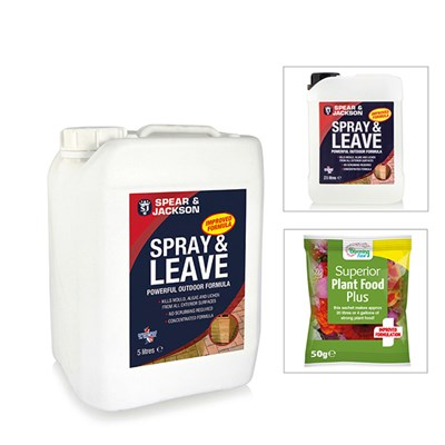 Spear and Jackson 5l Spray and Leave with Additional 2.5l with FREE Blooming Fast 50g Sachet Fertiliser