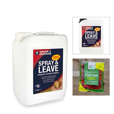 Spear & Jackson 5l Spray and Leave with Additional 2.5l with FREE Blooming Fast 50g Sachet Fertiliser