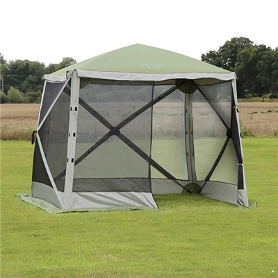 Screen House 4 - 2.44m x 2.44m - Green & Grey