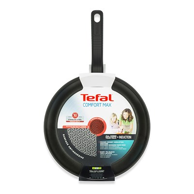 Tefal Comfort Max Stainless Steel 26cm Non-Stick Frying Pan