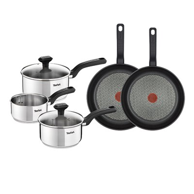 Tefal Comfort Max Stainless Steel 3 Piece Set with Both Tefal Comfort Max Stainless Steel 24cm and 26cm Non-Stick Frying Pans