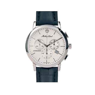 Mathey-Tissot Gent's Sports Classic Chronograph with Genuine Leather Strap