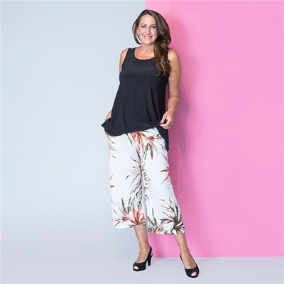 Styled By Print Crop Trouser 23 Inch