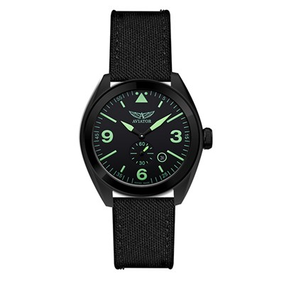 Aviator Gent's Swiss MIG 25 Foxbat Watch with Interchangable Straps