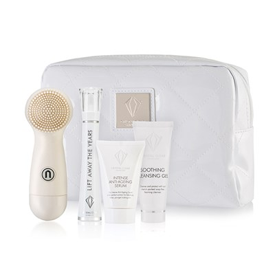 Crystal Clear Lift Away The Years Kit with Anti-Ageing Serum 30ml plus Ionic Sonic Cleanse with White Bag and Soothing Cleansing Gel 25ml